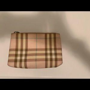 Burberry small approx 5 x 7 makeup bag